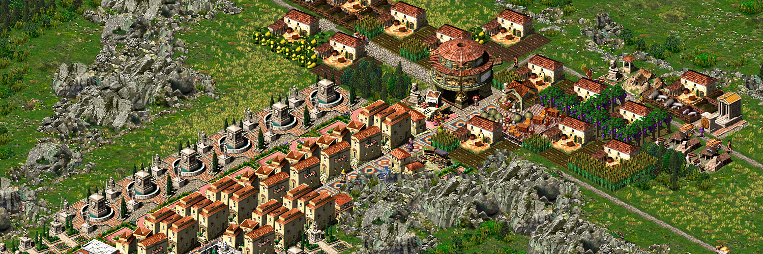 A screenshot from the video game, Caesar 3, one of the first games GamerZakh played on his channel.