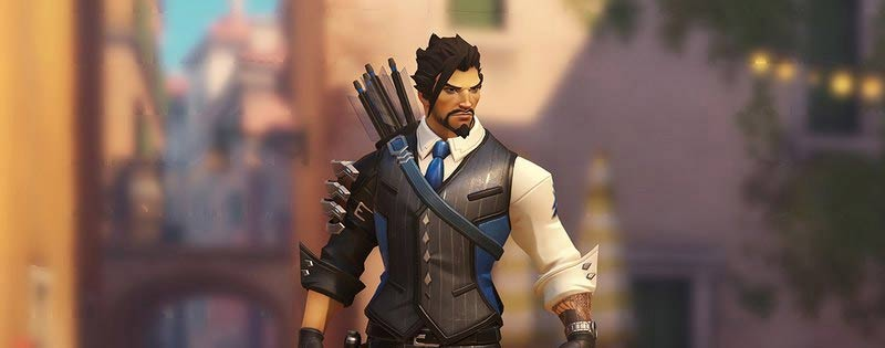 Screenshot of Hanzo from Overwatch in formal attire - Writing by GamerZakh
