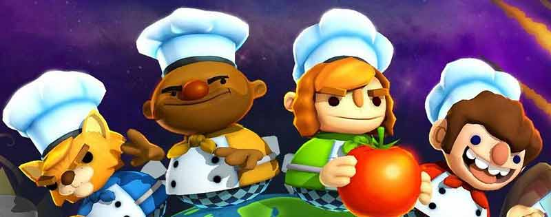 The game Overcooked poster of many characters - Writing by GamerZakh