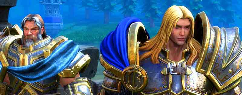 Two characters from the game Warcraft 3 but with the new HD graphics - Writing by GamerZakh