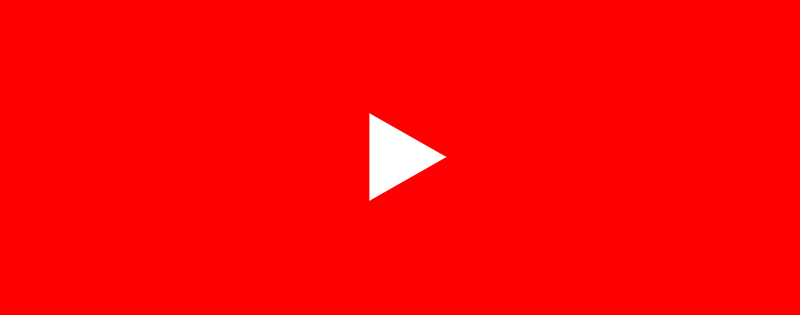 The YouTube logo icon on a red background - Writing by GamerZakh