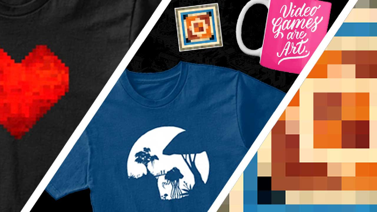 A collection of gaming inspired merchandise